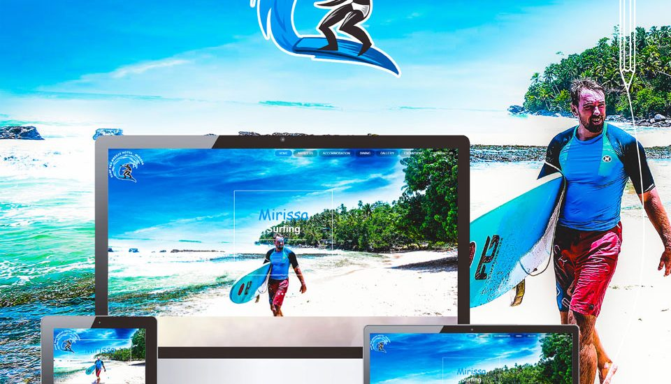 Surf sea breeze mirissa Website Redesign for Mobile Friendly